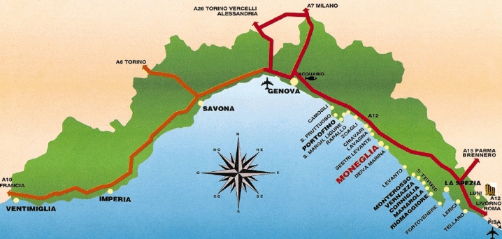 Cartina 5 Terre E Dintorni.Moneglia Com Consorzio Operatori Turistici Moneglia